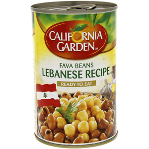 California Garden Canned Fava Beans Lebanese Recipe 450g