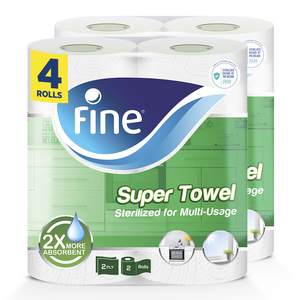 Fine Sterilized Paper Towel  Super Sterilized 2ply 4pcs