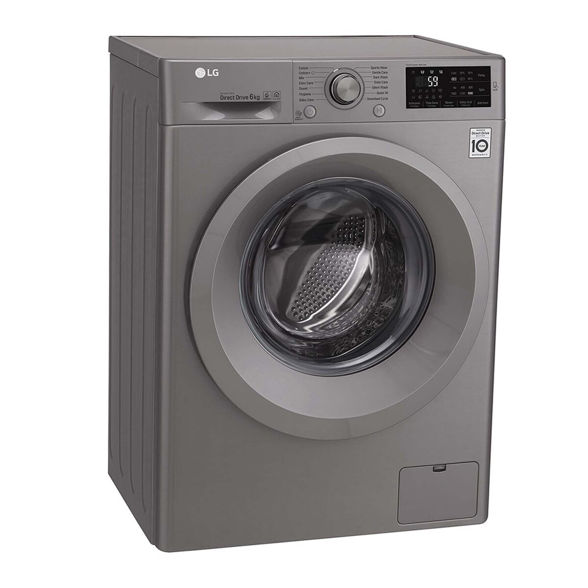 LG Front Load Washing Machine F2J5NNP7S 6Kg, 6motion, Inverter Direct Drive Motor, Add Item Function