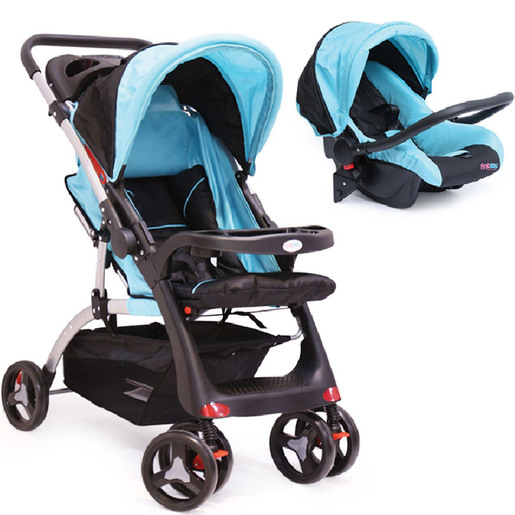 First Step Baby Stroller PP-07 Blue + Grey