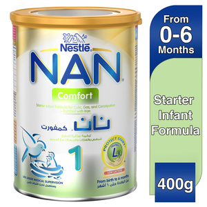 Nestle Nan Comfort 1 From birth to 6 months Starter Infant Formula Fortified with Iron 400g