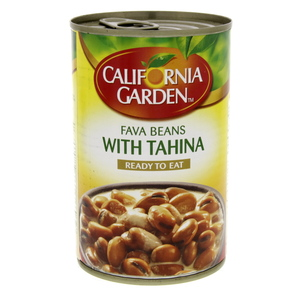 California Garden Canned Fava Beans With Tahina 450g
