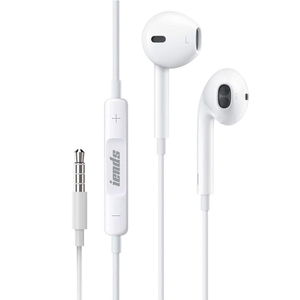 Iends Wired Stereo Earphone 3.5mm with Microphone, White HS272