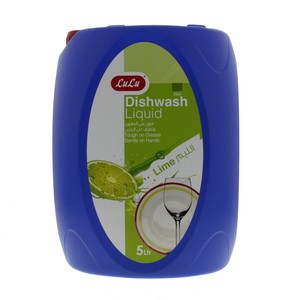 Lulu Dishwashing Liquid Lime 5Litre
