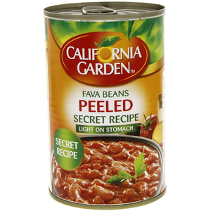 California Garden Canned Peeled Fava Beans Secret Recipe 450g