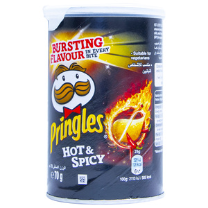 Pringles Hot And Spicy Chips 70g