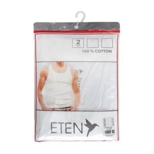 Eten Men's Vest 2Pcs Pack White ETVS01