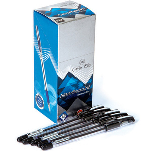 Win Plus Pen Black Needle Point 0.7mm 25's