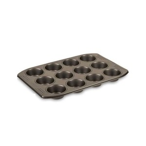 Tefal Easy Grip Muffin Tray Gold 12Cup