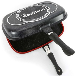 Chefline Black Marble Double Side Pan 36cm