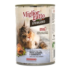 Miglior Gatto Cat Food With Fish & Shrimps Sterilized 400g