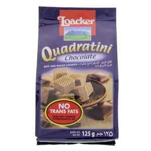 Loacker Quadratini Chocolate Bite Size Wafer Cookies 125g