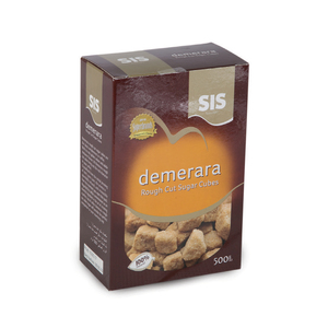 SIS Demerara Rough Cut Sugar Cubes 500g