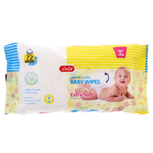 Lulu Baby Wipes Extra Soft 72 pcs