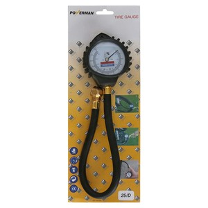 Powerman Brass Tire Gauge  SDG08-1