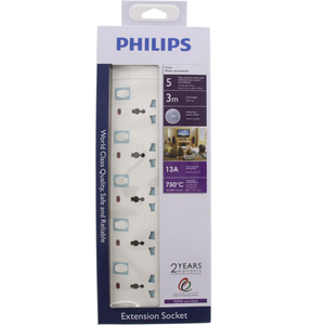Philips Universal Extension 5Way 3Mtr