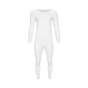Debackers Men's Thermal Wear Set Rib White - Medium