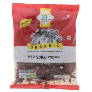 24 Mantra Organic Red Chilli Whole 100g