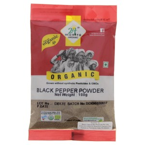 24 Mantra Organic Black Pepper Powder 100g