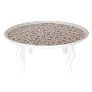 Home Melamine Round Tray with Leg ML60C SHE