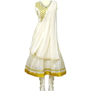 Women's Churidar Cream Large