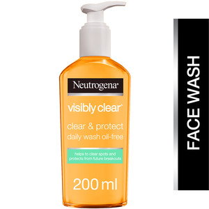 Neutrogena Facial Wash Visibly Clear Clear & Protect Oil-free 200ml