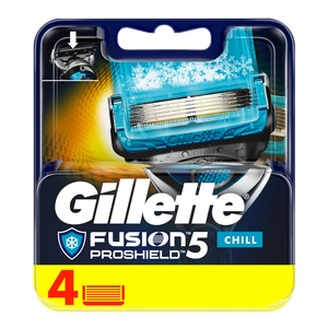 Gillette Fusion ProShield Chill Men's Razor Blades 4pcs