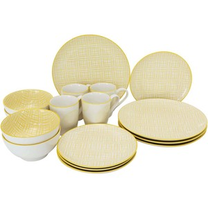 Pearl Noire Dinner Set 16pcs