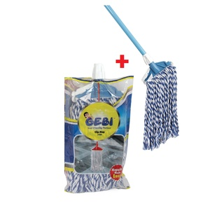 Gebi Cotton Mop 2pcs 634 260gm + Stick Assorted