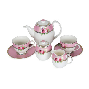 Pearl Noire Tea Set Pink 16B210A 7pcs