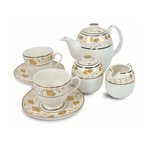 Pearl Noire Tea Set Gold 16B216A 7pcs
