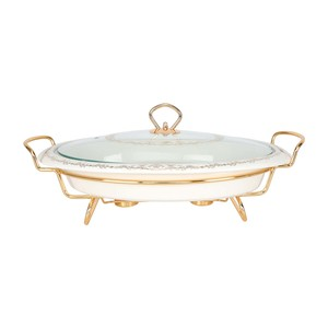 Chefline Casserole with Stand 16in Oval CX2456