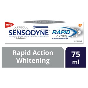 Sensodyne Rapid Action Whitening Toothpaste 75ml