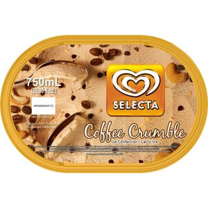 Selecta Ice Cream Tubs Coffee Crumble 750ml