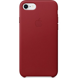 Apple iPhone 8 Leather Case Red
