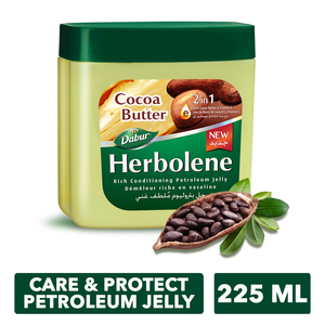 Dabur Herbolene Cocoa Butter Petroleum Jelly 225ml
