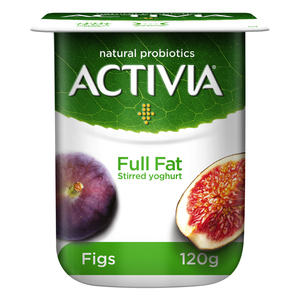 Activia Stirred Yoghurt Full Fat Figs 120g