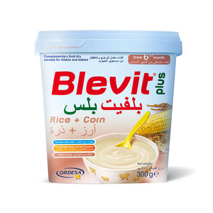 Blevit Plus Baby Food Cereals Rice + Corn 300g