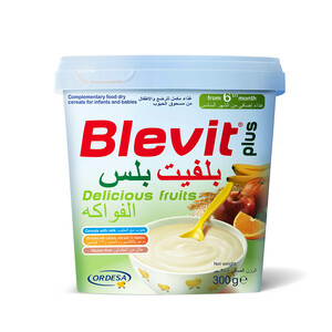 Blevit Plus Baby Food Cereals With Delicious Fruits 300g