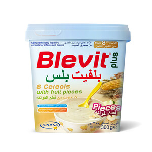 Blevit Plus Baby Food Cereals With Fruit Pieces 300g
