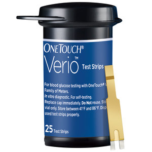 One Touch Verio Glucose Monitor + Strips