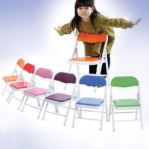 Home Style Kids Foldg Chair 1pc KT9966CH-B Assorted Colors