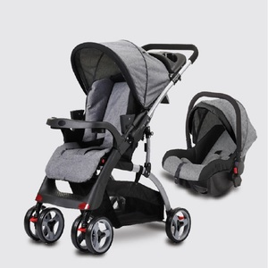 Mom N Bebe Stroller With Car Seat C18F1 Assorted Color