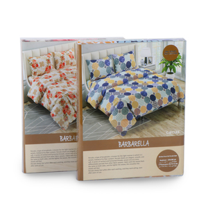 Barbarella Bed Sheet Double 3pc 220x240cm Percale Assorted