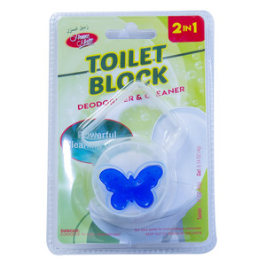 Home Mate 2in1 Toilet Block Deodorizer & Cleaner 1pc