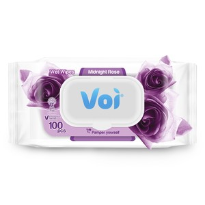 Voi Wet Wipes Midnight Rose 100pcs