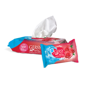 Gersy Anti Bacterial Wipes Rose 15pcs