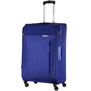 American Tourister Troy 4 Wheel Soft Trolley 55cm Blue