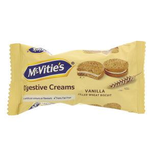 McVities Digestive Creams Vanilla Filled Wheat Biscuit 40g