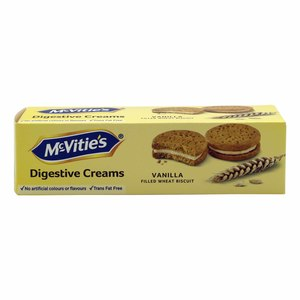 Mcvities Digestive Vanilla Cream Filled Wheat Biscuits 100g